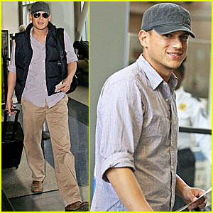 Wentworth Miller: Under Cap and Vest