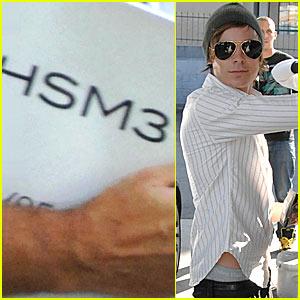 Zac Efron's Top Secret HSM3 Meeting