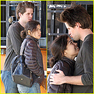 America Ferrera cradles son Sebastian in family selfie with husband
