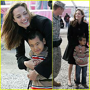 Angelina Jolie's National Guard Salute