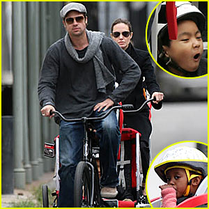 Brad Pitt: Bicycle Built For Four