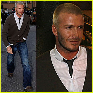 Beckham Back in Spain