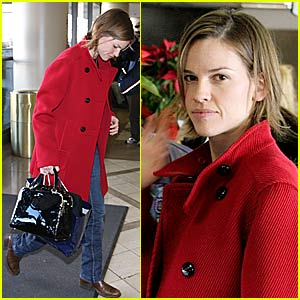 Hilary Swank is in the Red