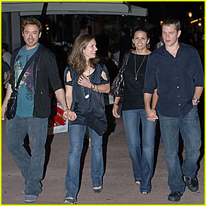 Matt Damon's Double Date