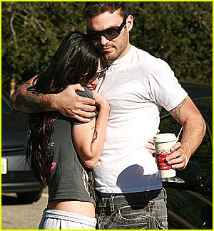 Megan Fox & Brian Austin Green Get Cuddly