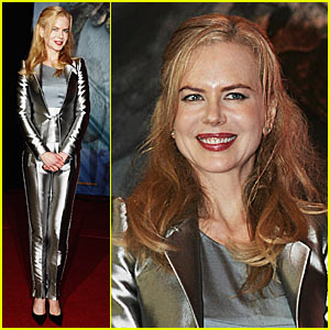 Nicole Kidman Suits Up in Silver