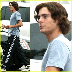 Zac Efron Wigs Out