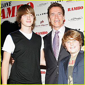 Arnold Schwarzenegger's Sons Hit Hollywood