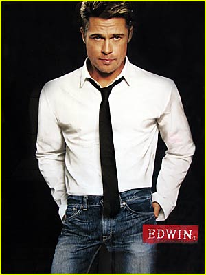 Brad Pitt For Edwin Jeans