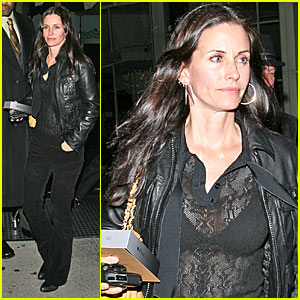 Courteney Cox's Sheer Moment