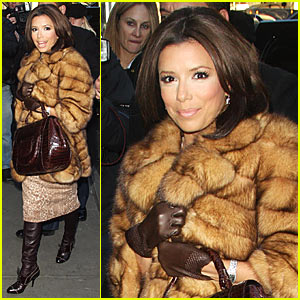 Eva Longoria is Warm -- Fur Sure!