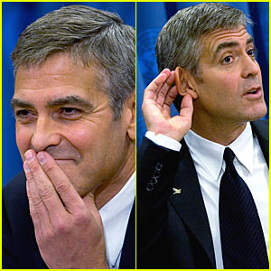 George Clooney Speaks No Evil & Hears No Evil