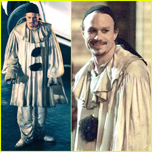 Heath Ledger Clowns Around
