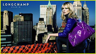 Kate Moss is a Longchamp Lady