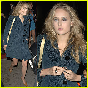 Leelee Sobieski parties at Goa nightclub in Hollywood on Thursday.