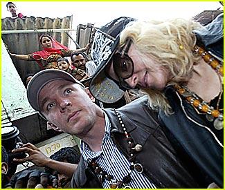Madonna Visists the Mumbai Slums