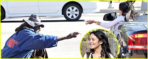 Vanessa Hudgens Helps the Homeless