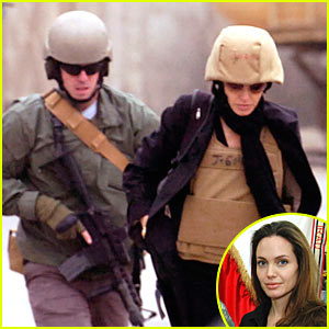 Angelina Jolie is a Helmet Head