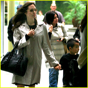 Angelina & Maddox Share Movie Theater Moment
