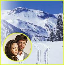 Brad & Angelina Hit Mammoth Mountain