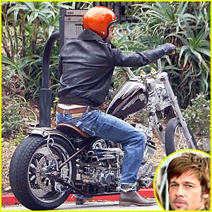 Brad Pitt is Motorcycle Man