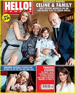 Celine Dion Meets Nelson Mandela