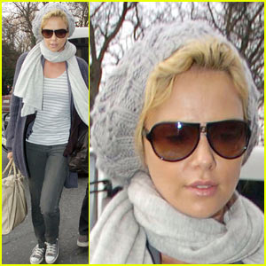 Charlize Theron in her Jammies