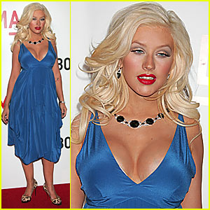 Christina Aguilera Flaunts Post-Pregnancy Figure