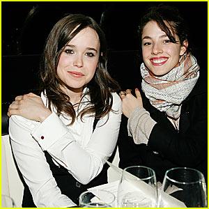 Ellen Page's One-Shoulder Pose