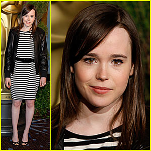 Ellen Page in Sexy Stripes