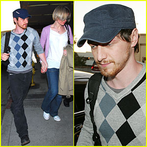 James McAvoy Jets Outta LAX