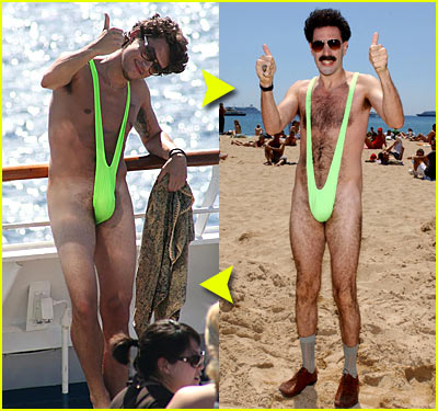 Fashion Faceoff: Green Thong