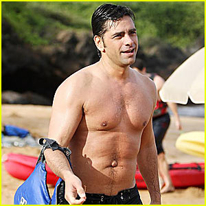 John Stamos is Shirtless