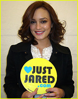 Leighton Meester Loves JustJared.com