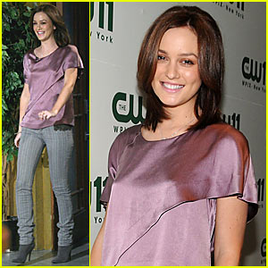 Leighton Meester is Luscious in Lavender