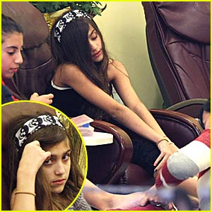 Lourdes Leon's Pedicure Pampering