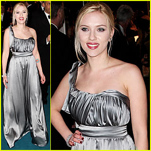Scarlett Johansson is Shimmery in Silver
