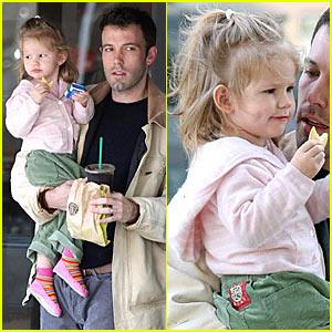 Violet Affleck's Starbucks Stop