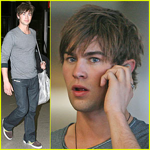 Chace Crawford Phones Home