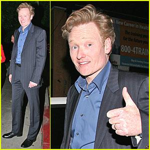 Conan O'Brien Gives the Thumbs Up