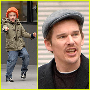 Ethan Hawke and Little Levon: Jump, Jump!