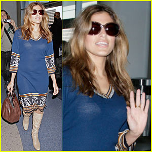 Eva Mendes Sheer Looks Happy