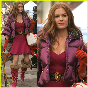 Isla Fisher is Fun in Fuschia
