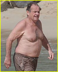 Jack Nicholson is Shirtless