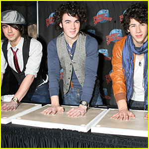 The Handprints of The Jonas Brothers