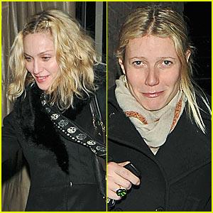 Madonna & Gwyneth Paltrow's Dinner Date