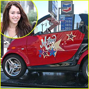 Miley Cyrus Gets A Car!