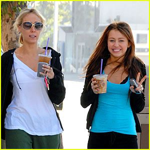 Miley's Mother-Daughter Coffee Run