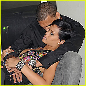 Rihanna & Chris Brown Snuggle in Paris