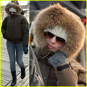 Scarlett Johansson is Bundled Up in Brooklyn